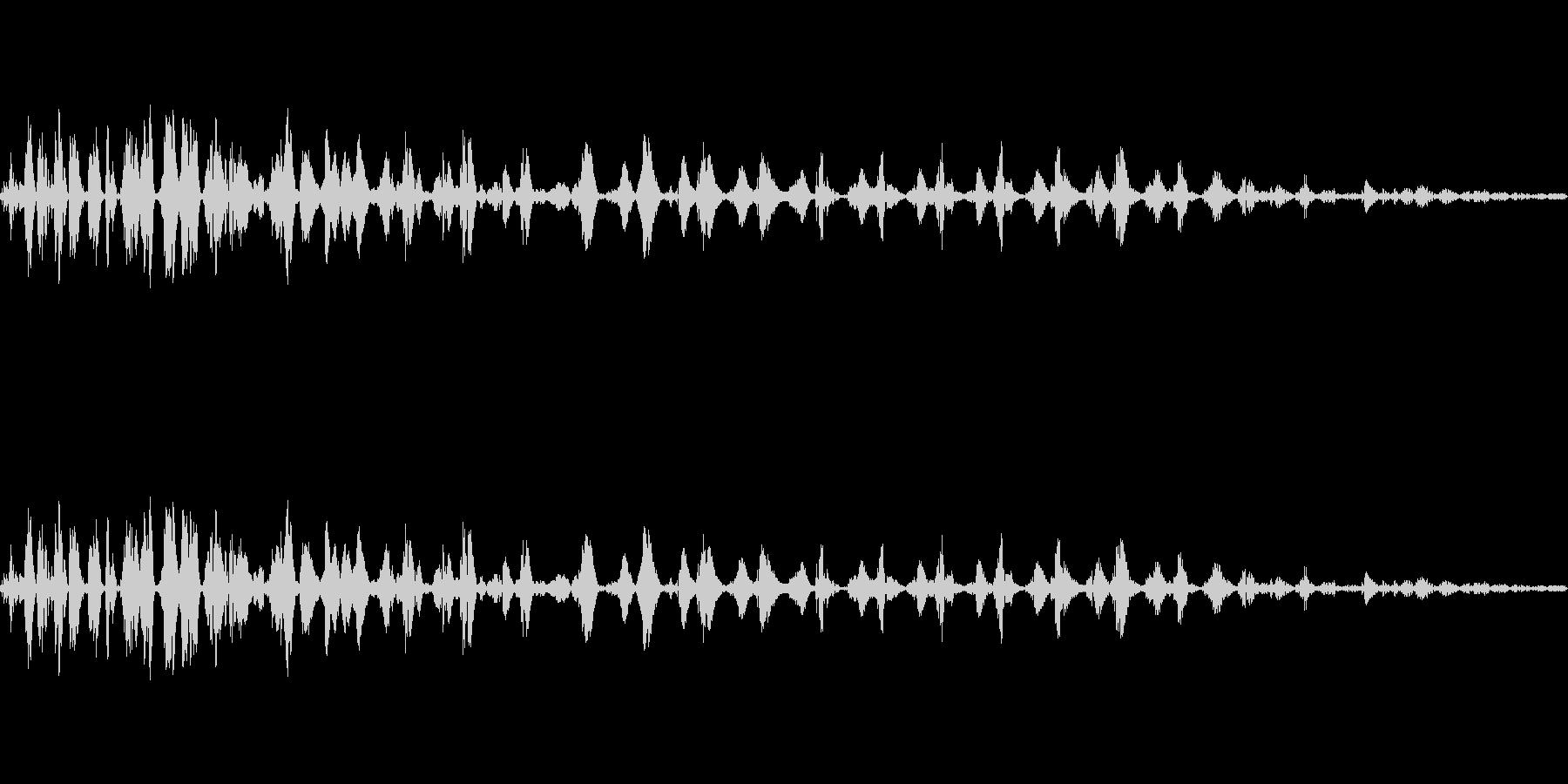マイナス効果の魔法の効果音イメージ2の未再生の波形