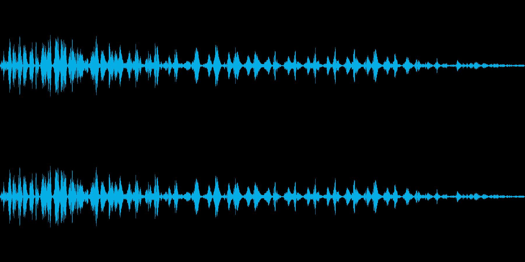 マイナス効果の魔法の効果音イメージ2の再生済みの波形