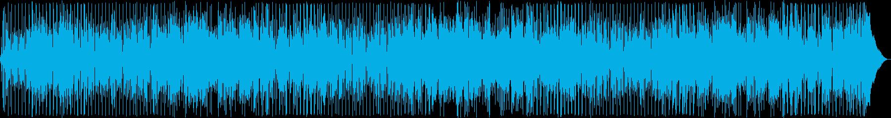 アコギの落ち着いたムードある曲の再生済みの波形