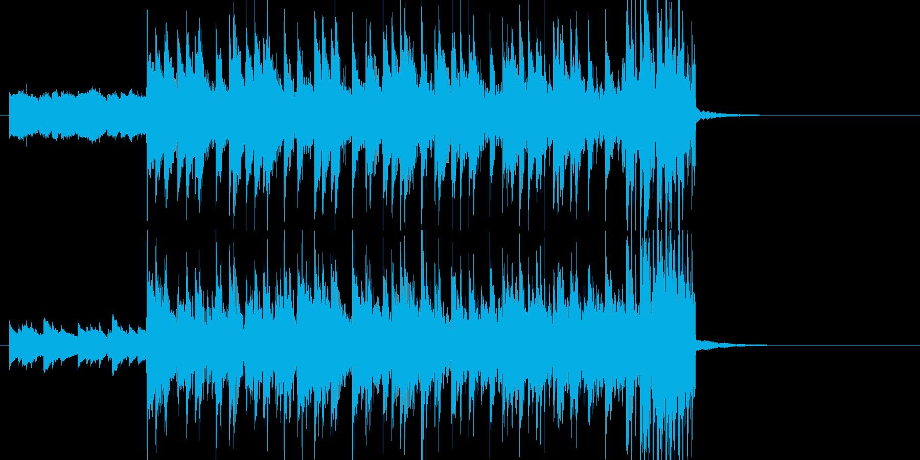 テンポ123★インパクトのあるジングルの再生済みの波形