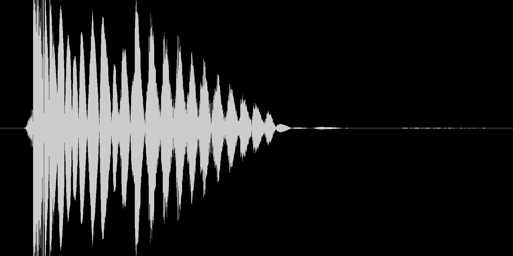 ドスっという衝撃音の未再生の波形