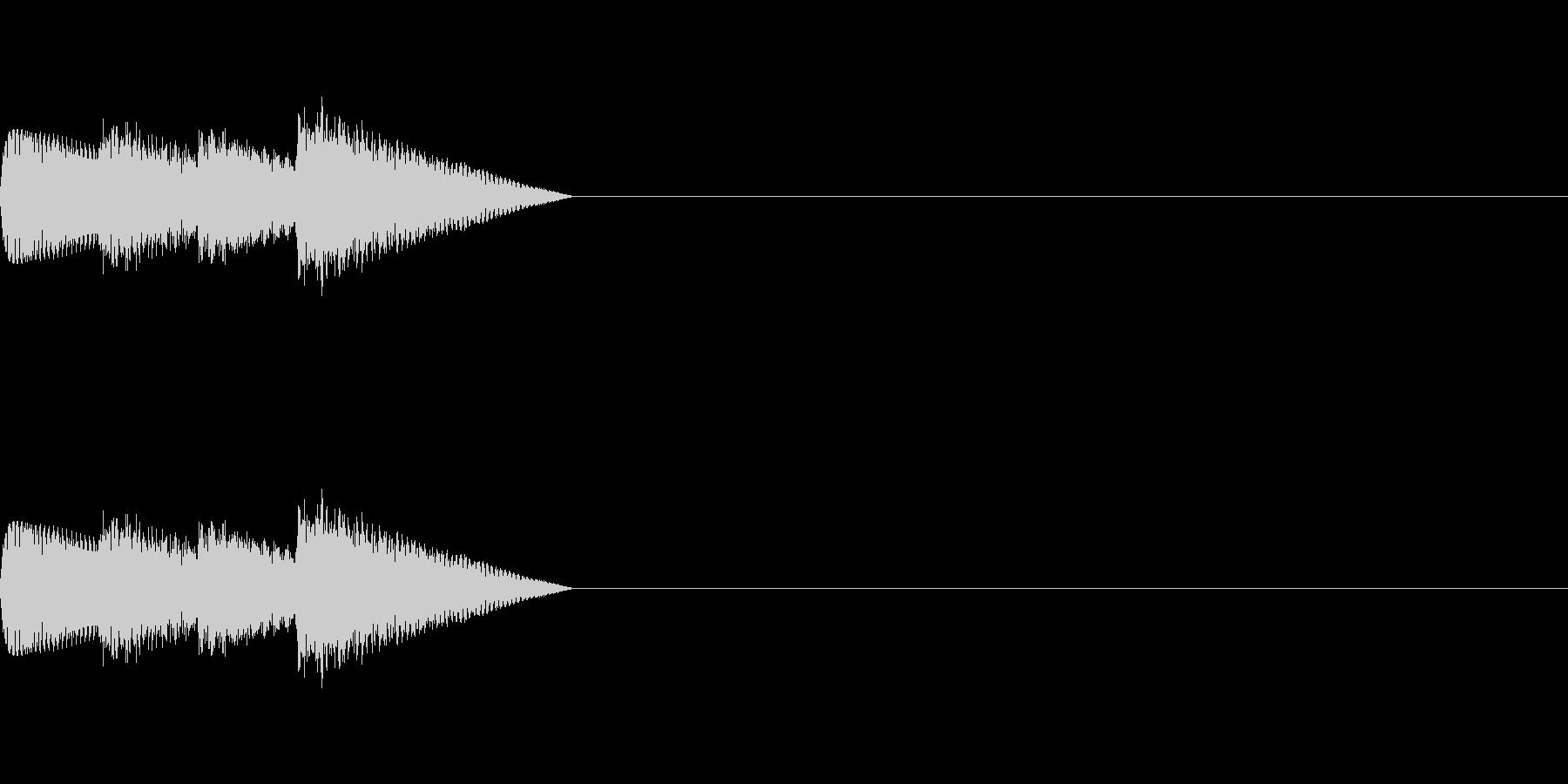 「ピロリロ♪」レトロゲーム風アイテムの未再生の波形