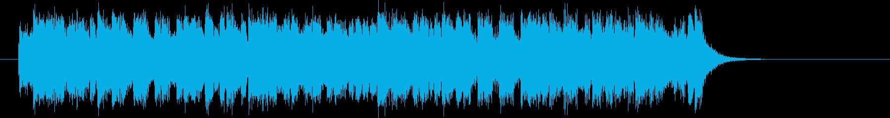 軽快で躍動感あるシンセポップジングルの再生済みの波形