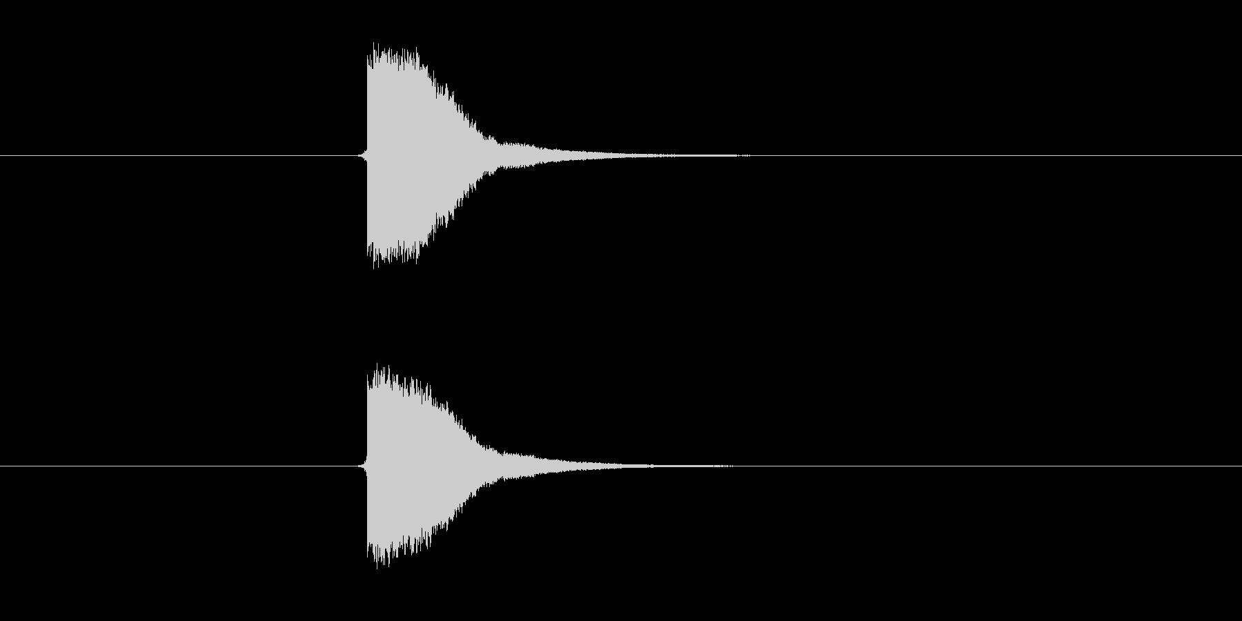 ピンッ。はじく音。の未再生の波形