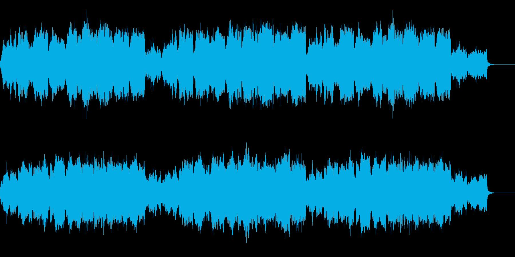 静かな優しい風景のオーケストラBGMの再生済みの波形
