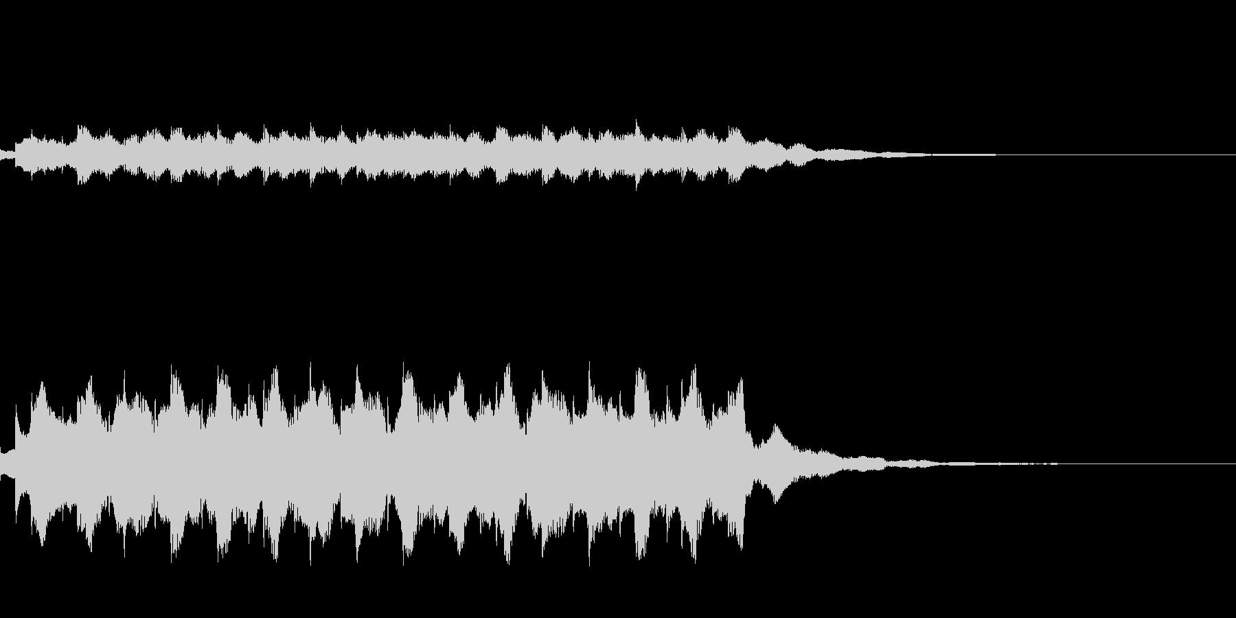 宇宙旅行に行く際の音楽の未再生の波形