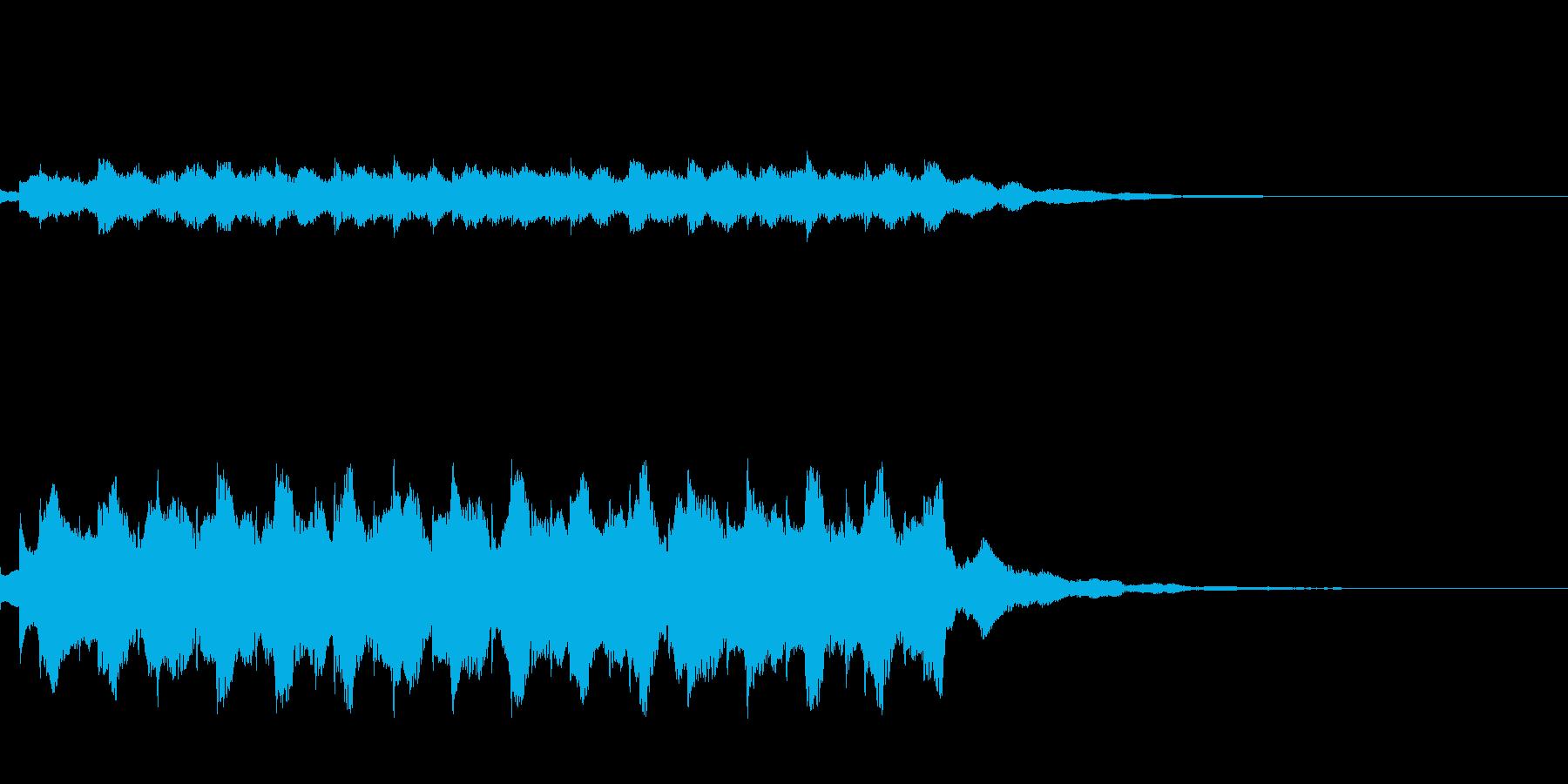 宇宙旅行に行く際の音楽の再生済みの波形