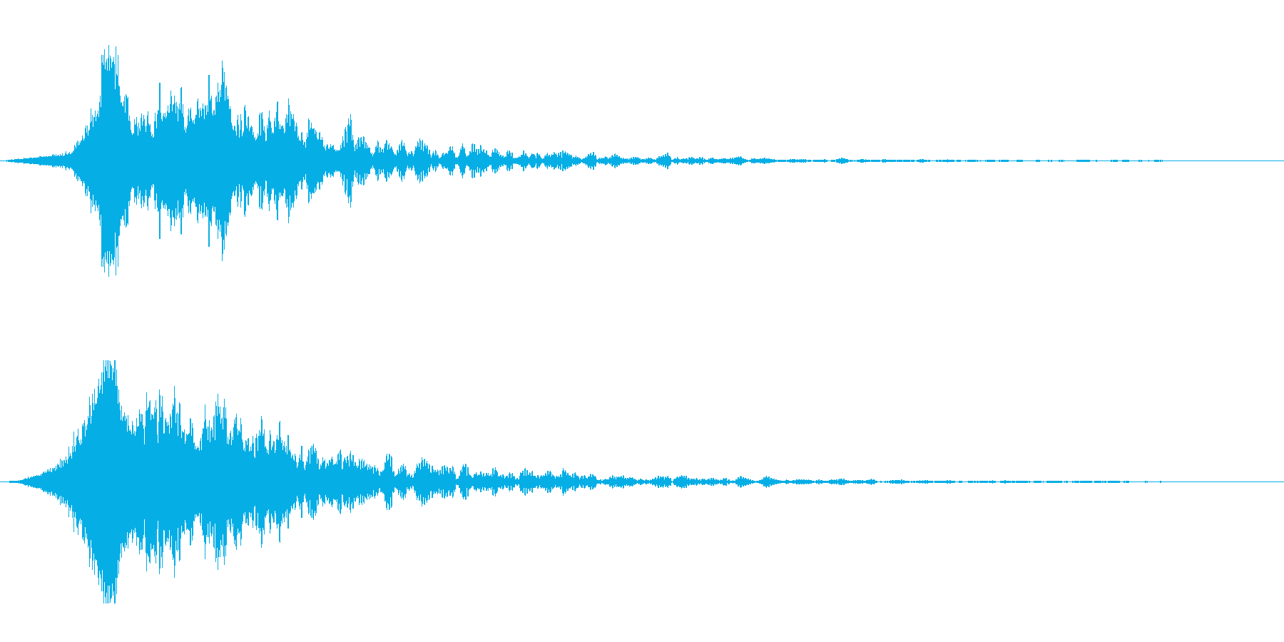 ホラー系アタック音81の再生済みの波形