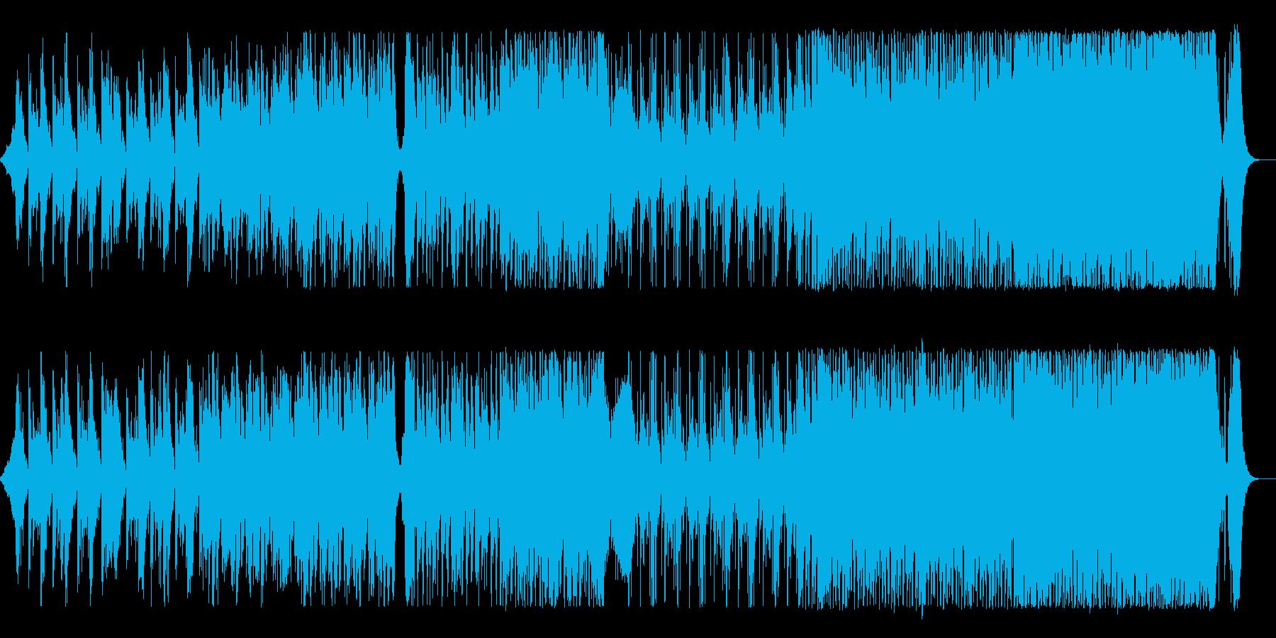 緊迫感のある対峙曲の再生済みの波形