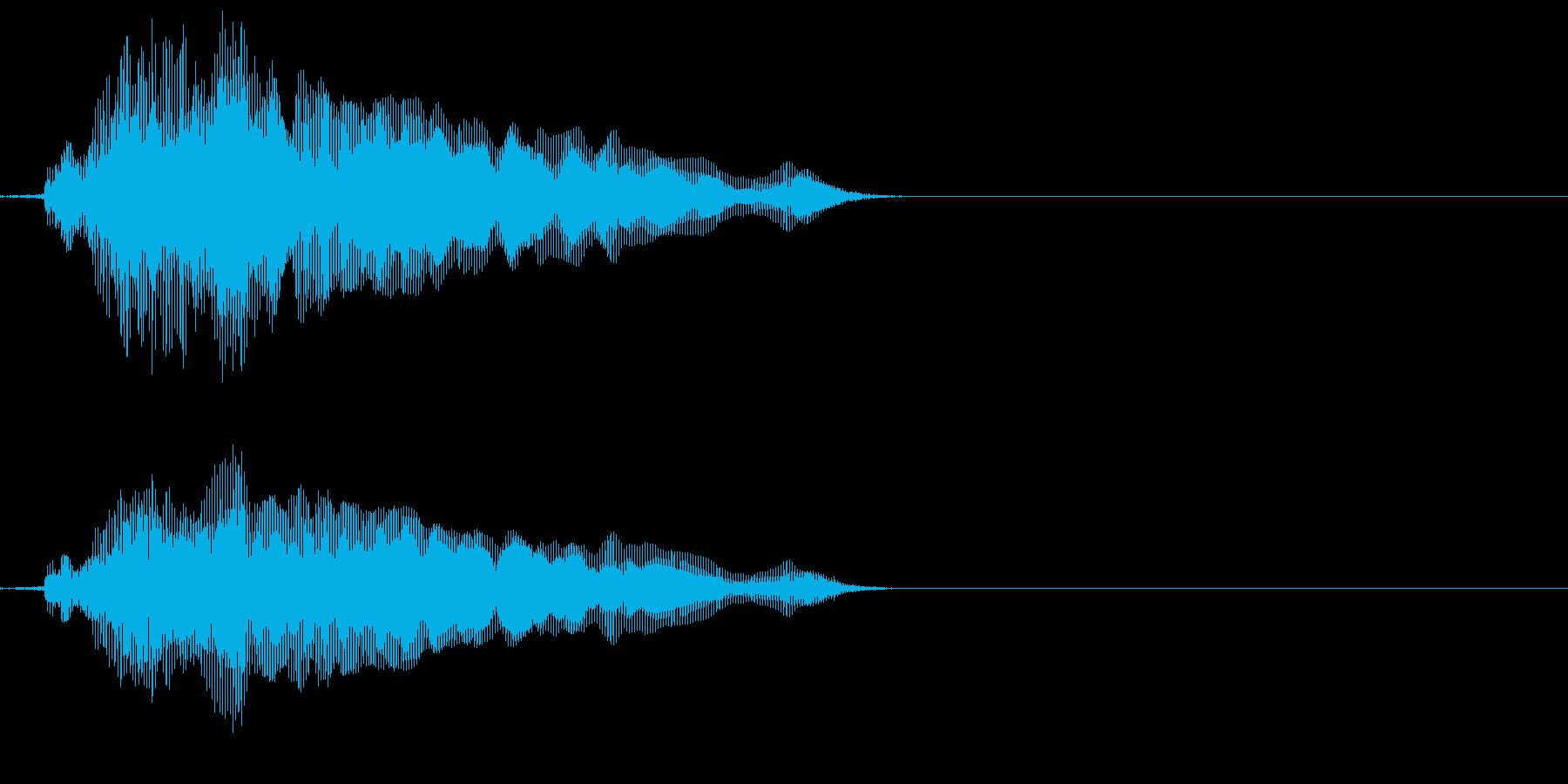 「猫の鳴き声012」にゃ~んの再生済みの波形