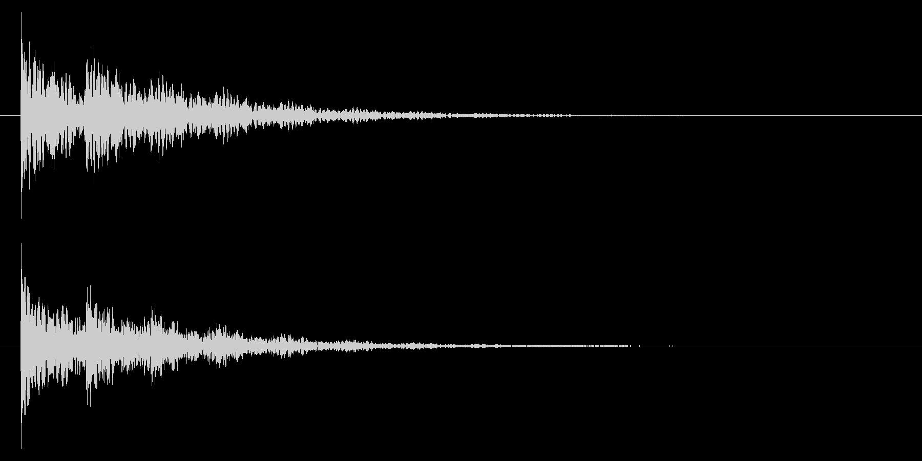 【アクセント44-2】の未再生の波形
