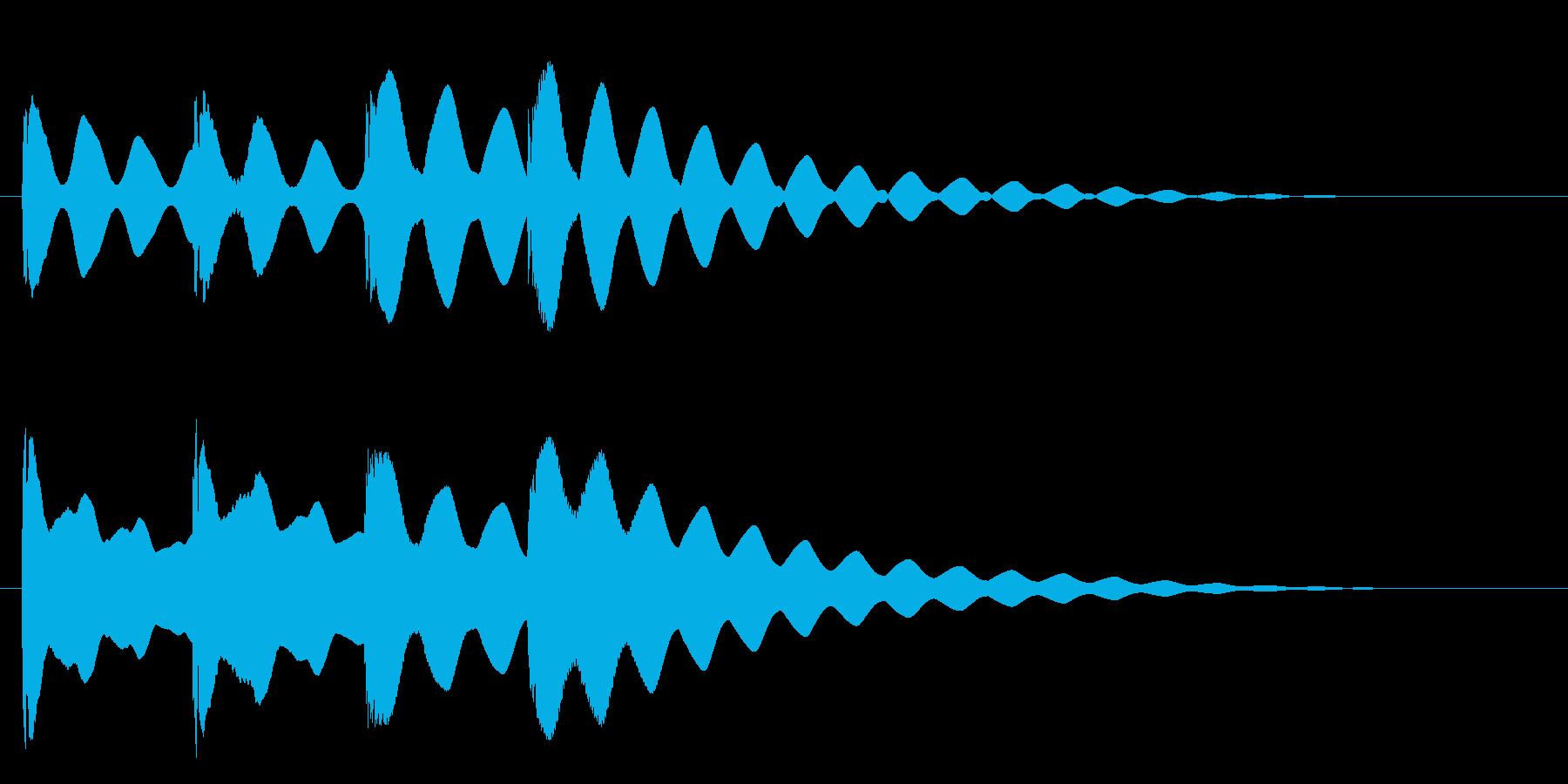 ヒント・発見・クエスチョンの再生済みの波形