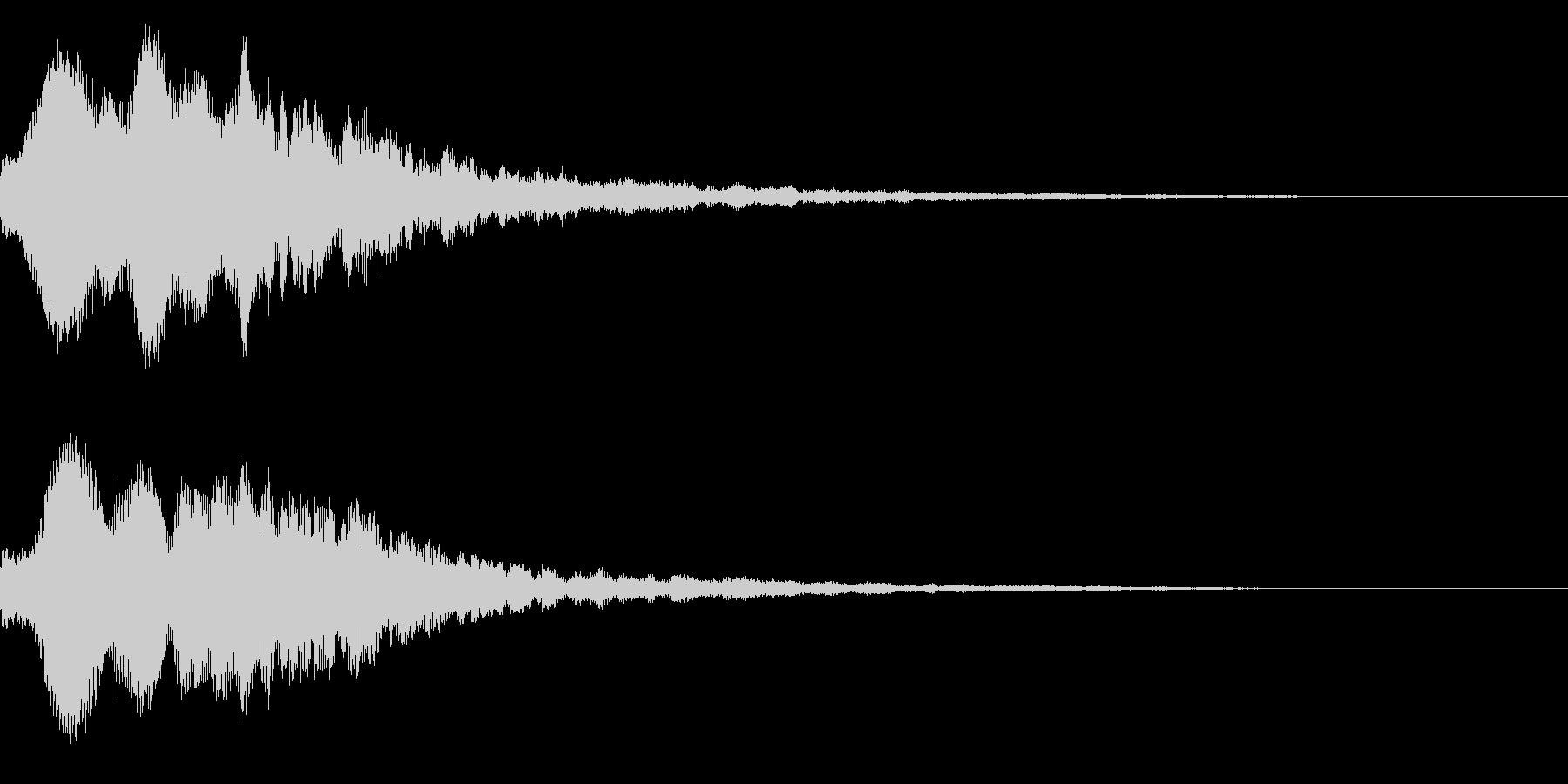 明るいテロップ音 ボタン音 魔法!6bの未再生の波形