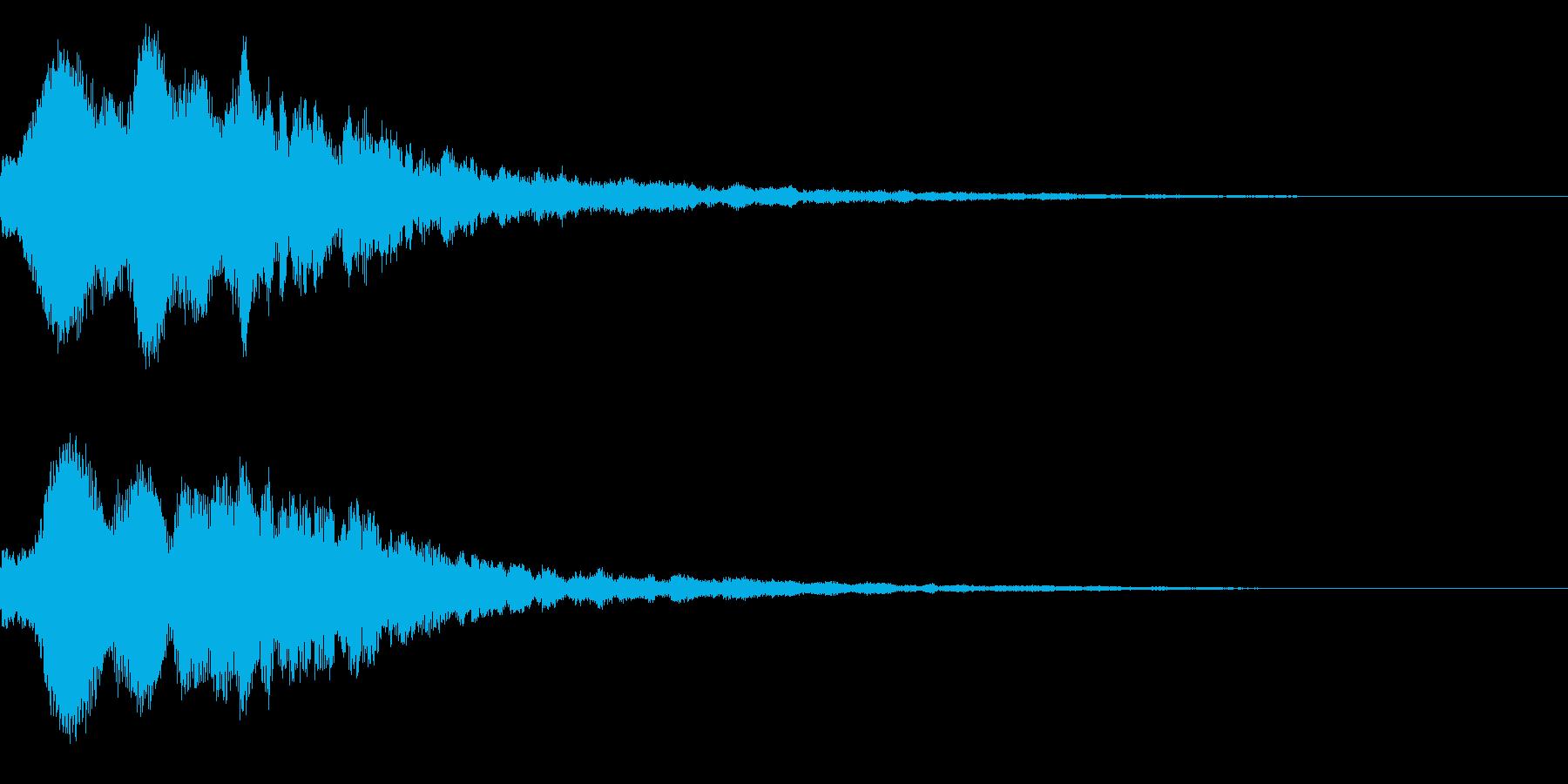 明るいテロップ音 ボタン音 魔法!6bの再生済みの波形