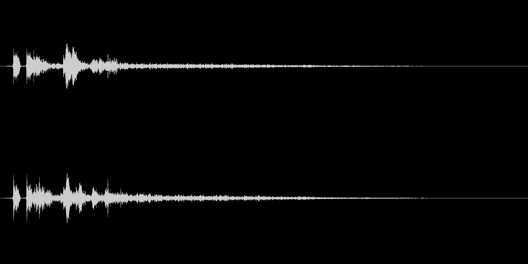 【ピチャ、ポチャ】リアルな水滴音01!の未再生の波形