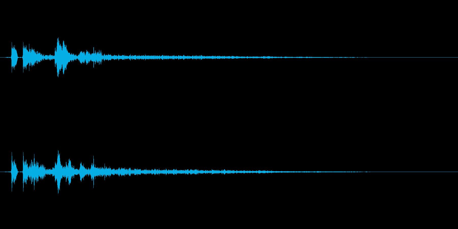 【ピチャ、ポチャ】リアルな水滴音01!の再生済みの波形