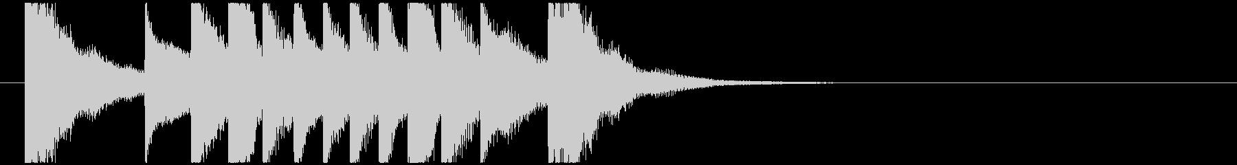 聞き馴染みのある和風・正月系ロゴ(B)の未再生の波形