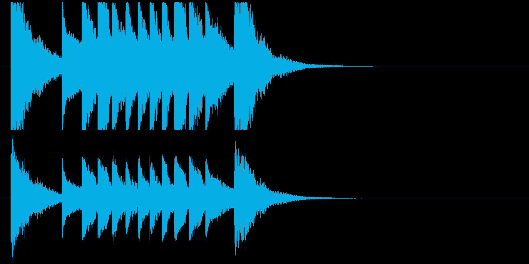聞き馴染みのある和風・正月系ロゴ(B)の再生済みの波形