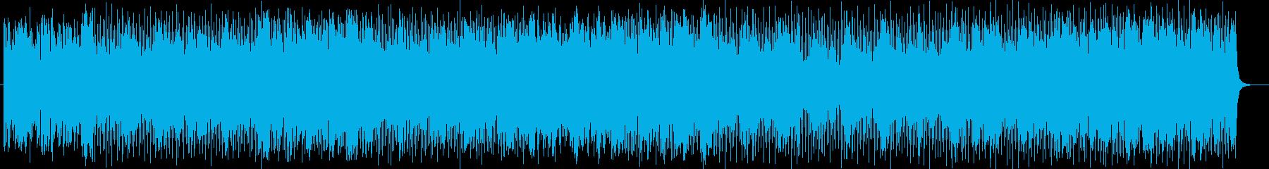 疾走感のあるダイナミックなポップスの再生済みの波形