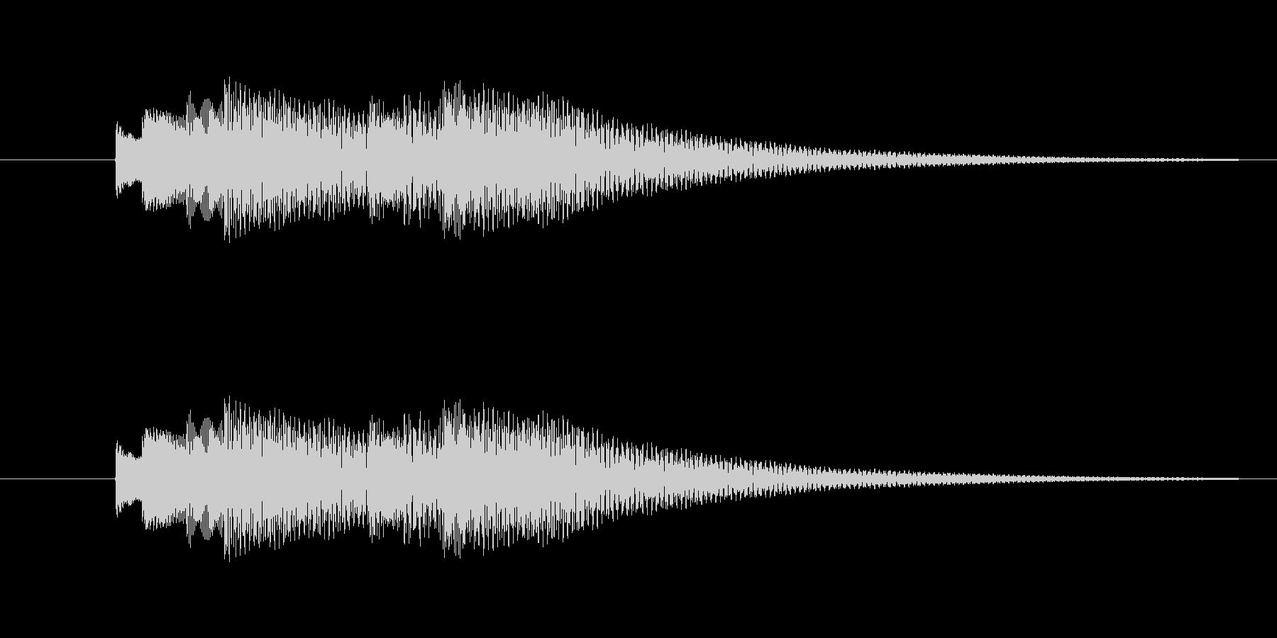 bell06のフレーズが2回続いたもの…の未再生の波形