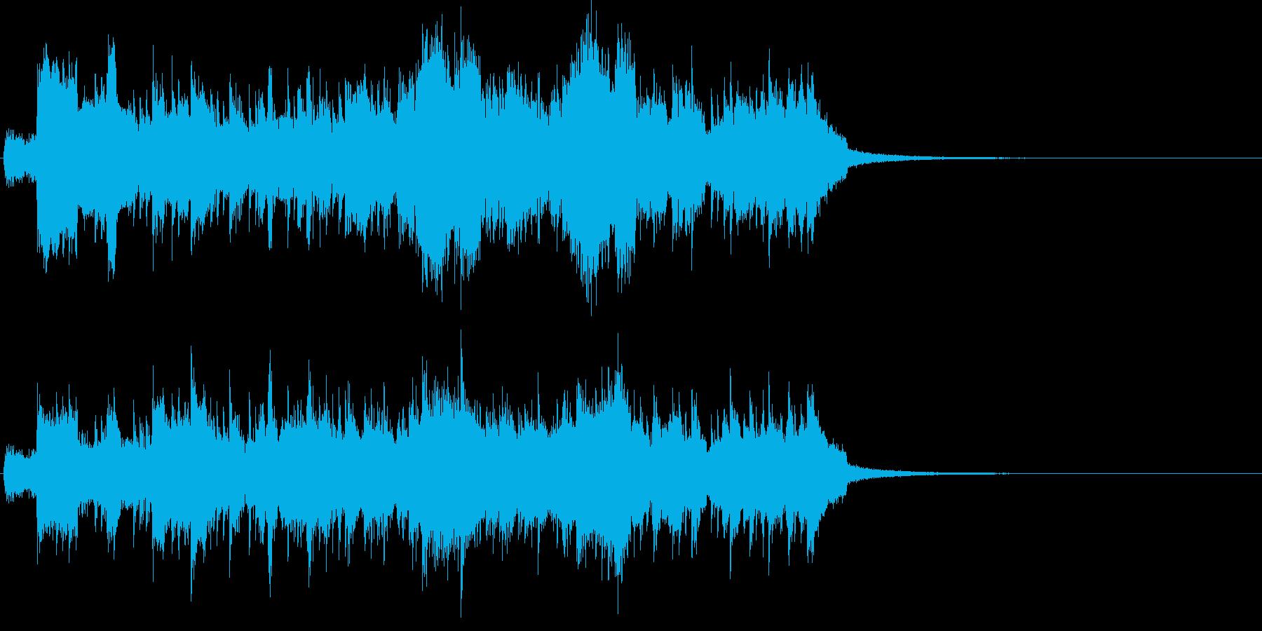 ライトな印象のファンファーレです。の再生済みの波形