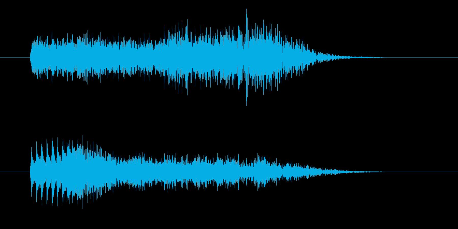 美しくドラマ感のピアノサウンド短めの再生済みの波形