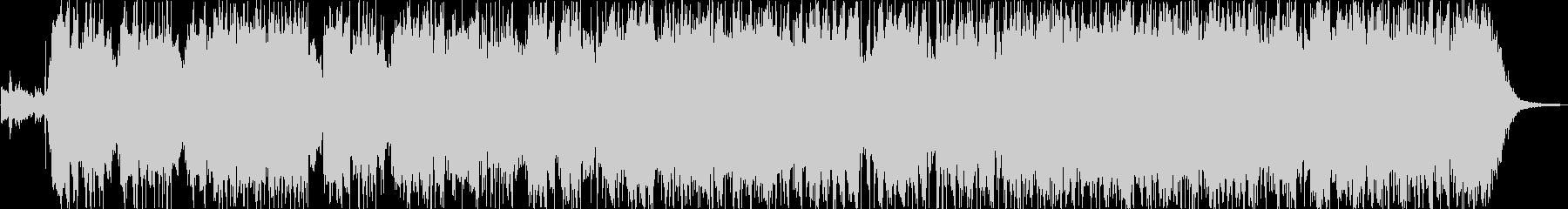 メロディックなギターロックインストの未再生の波形