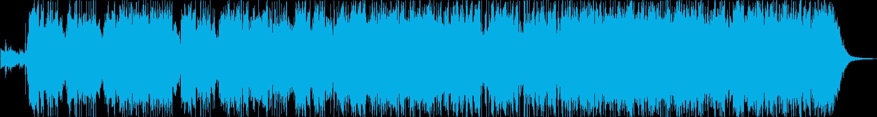 メロディックなギターロックインストの再生済みの波形