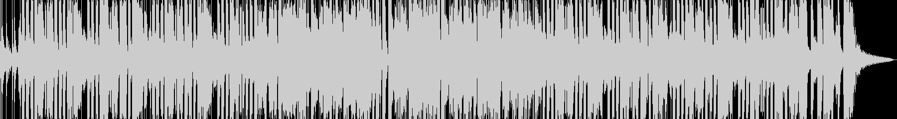 ブラスメインのファンキーな曲の未再生の波形