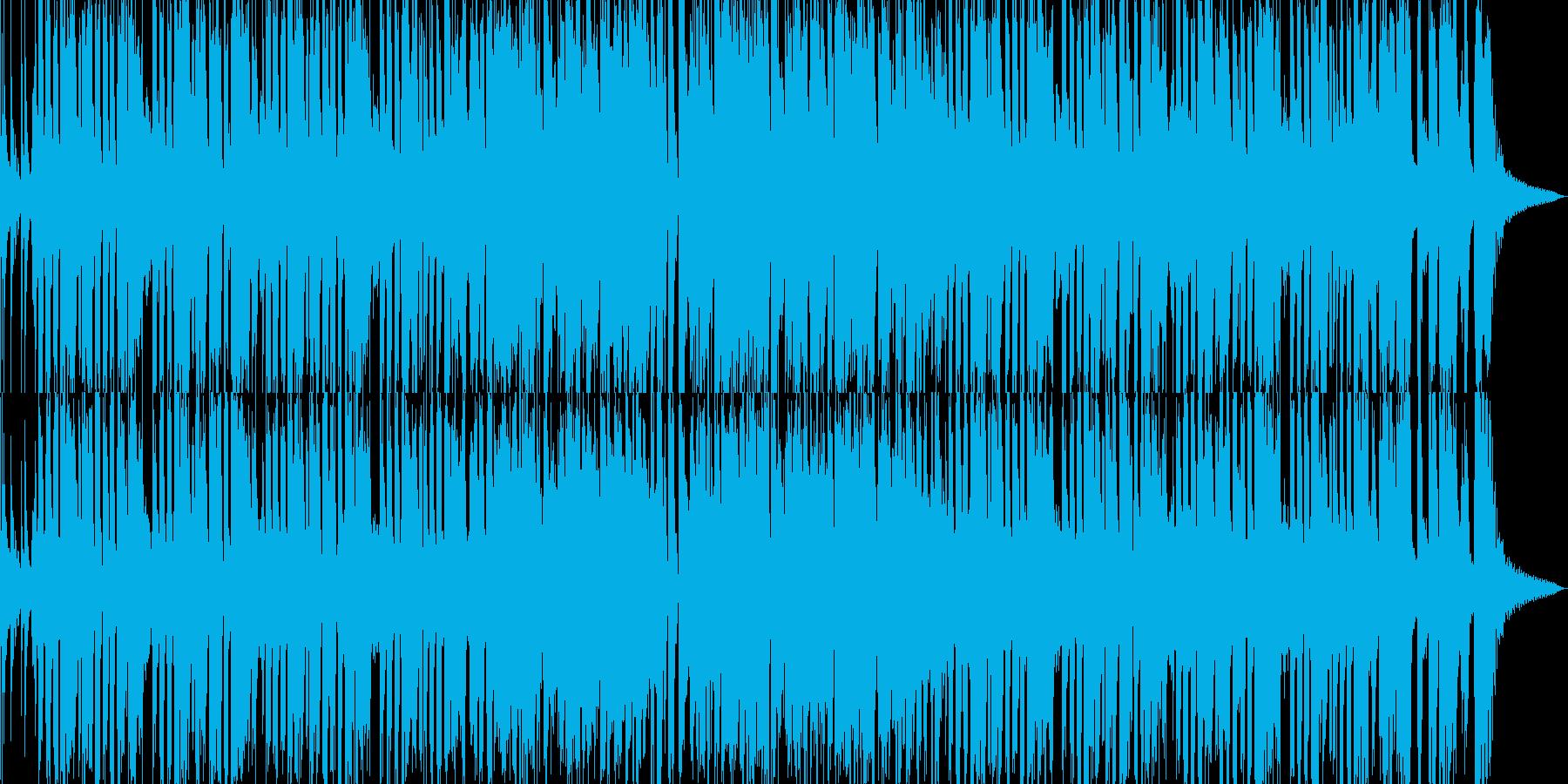 ブラスメインのファンキーな曲の再生済みの波形