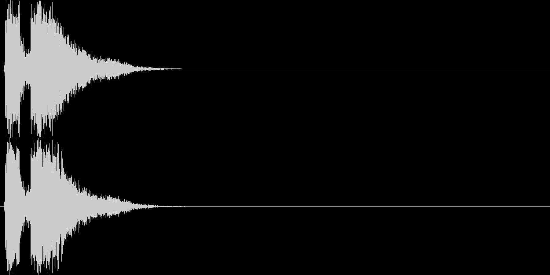 デデーン(テロップ向けSE、注目、宣伝)の未再生の波形