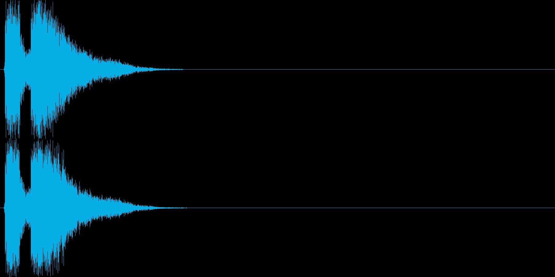 デデーン(テロップ向けSE、注目、宣伝)の再生済みの波形