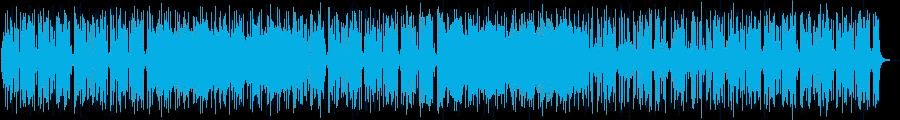明るく宇宙感のあるシンセサイザーサウンドの再生済みの波形