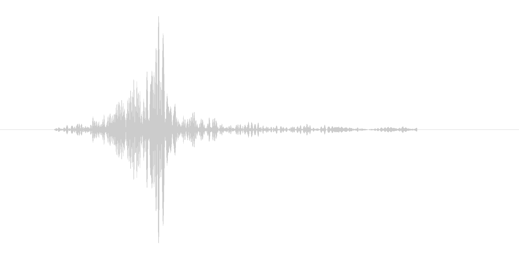 ブンッ。武器を振る音です(3)の未再生の波形