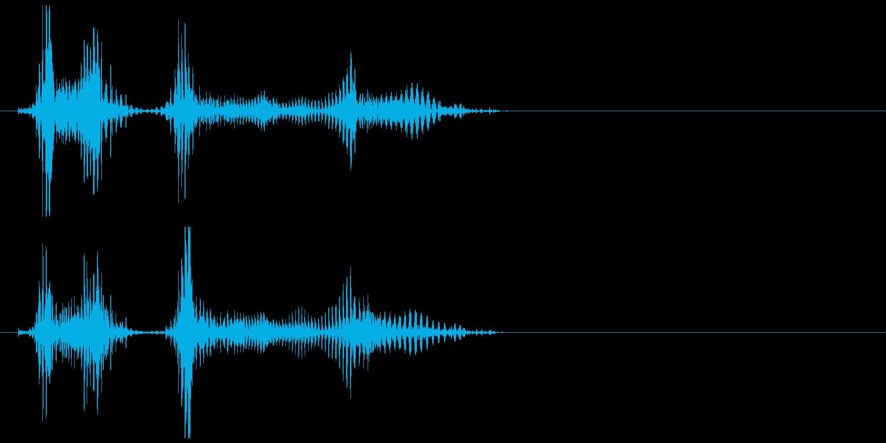 雑魚キャラの発声にの再生済みの波形