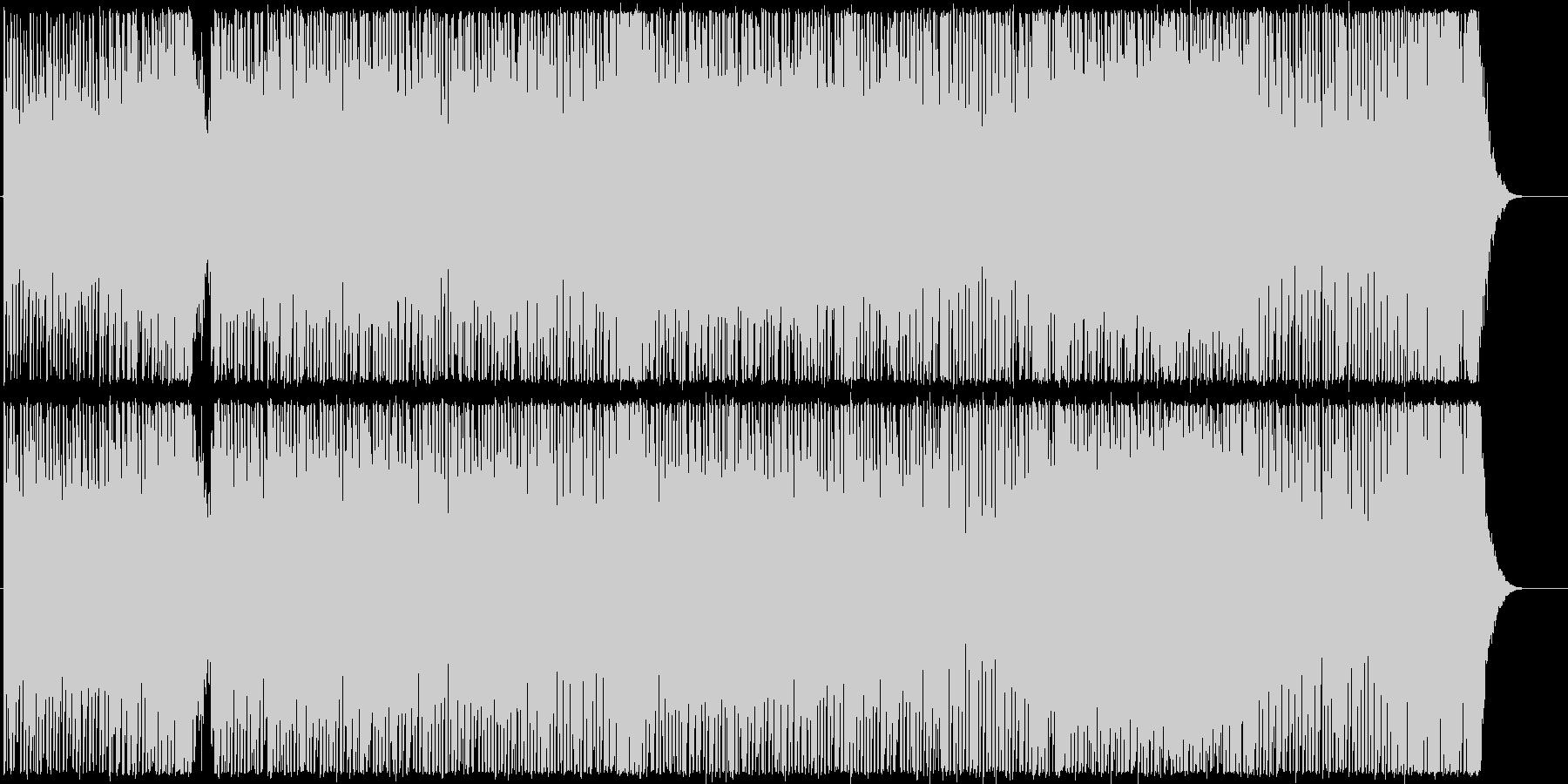 ハイテンション・テクノポップの未再生の波形