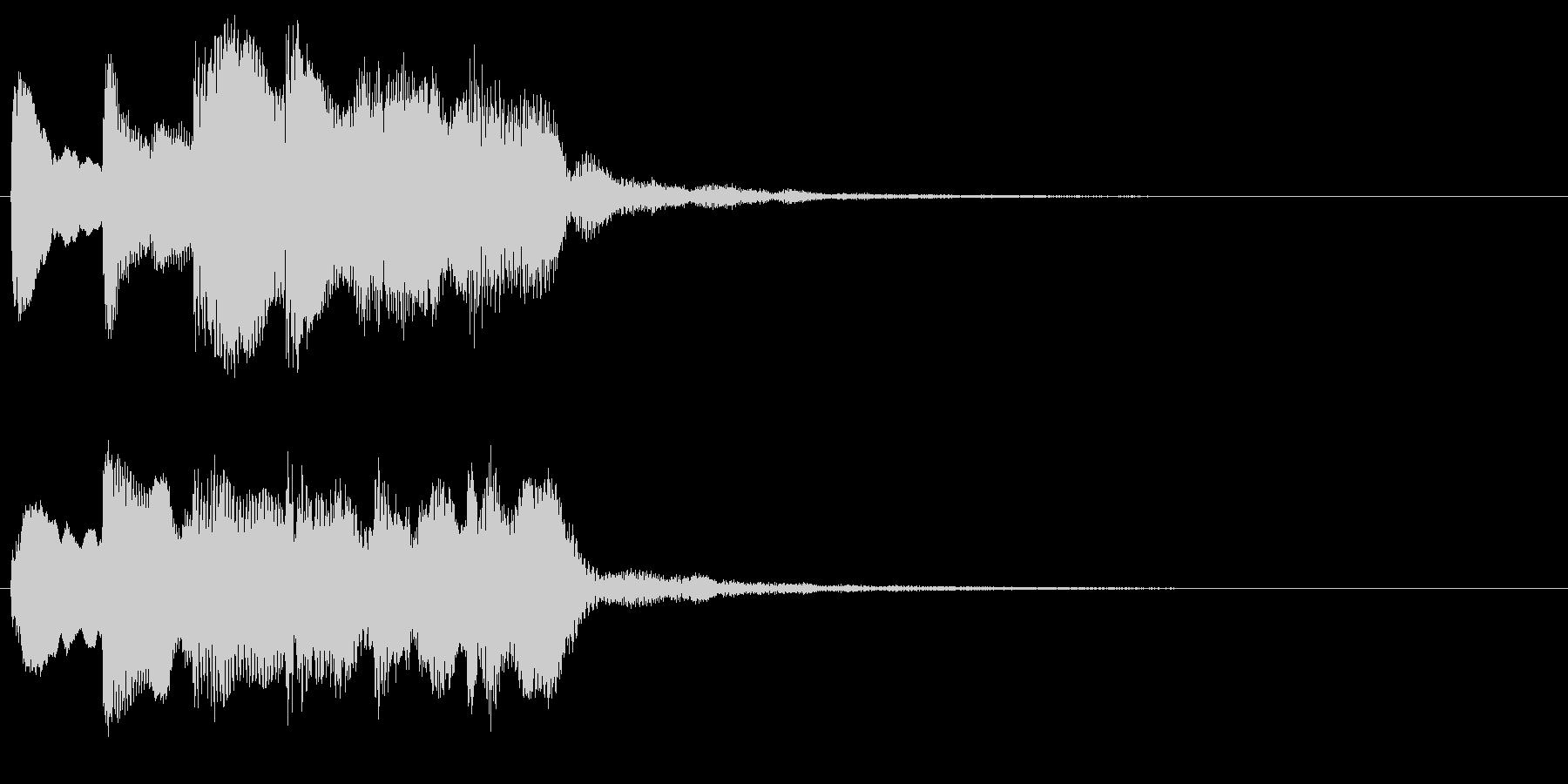 ホラーなピアノ中心の音 奇妙 違和感の未再生の波形