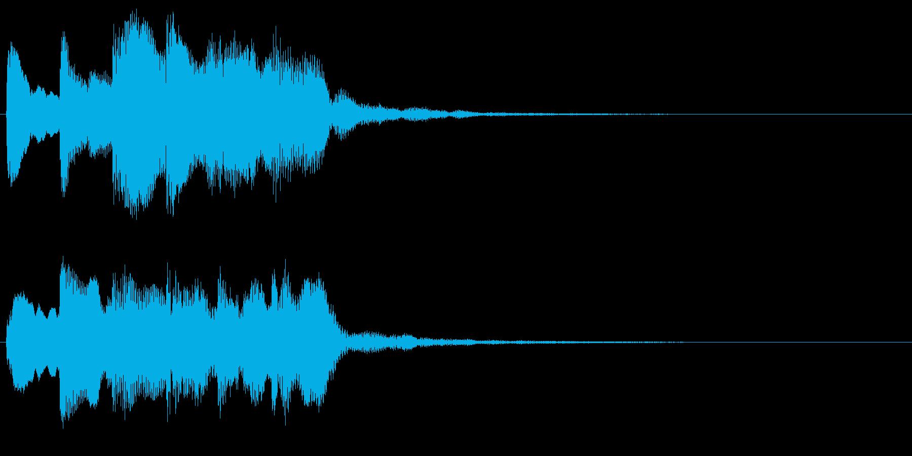 ホラーなピアノ中心の音 奇妙 違和感の再生済みの波形