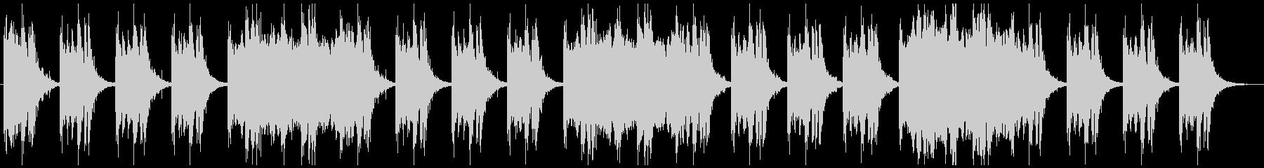 恐怖感を演出 ダークなシネマチックBGMの未再生の波形