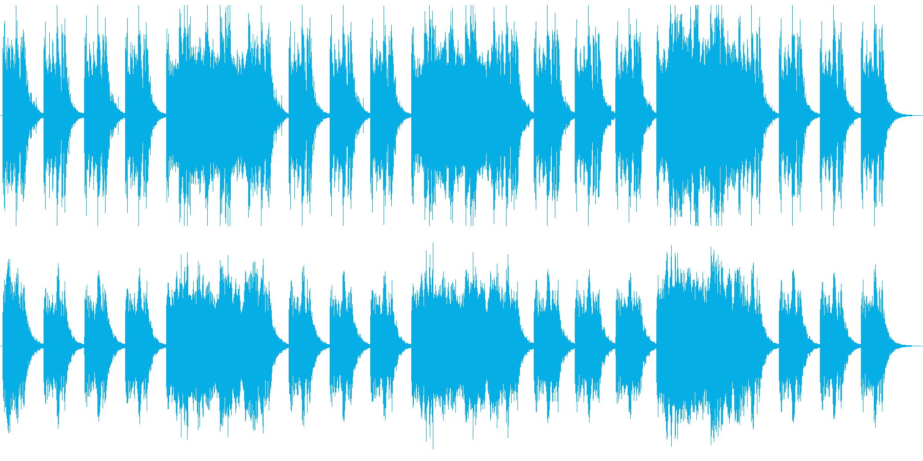 恐怖感を演出 ダークなシネマチックBGMの再生済みの波形