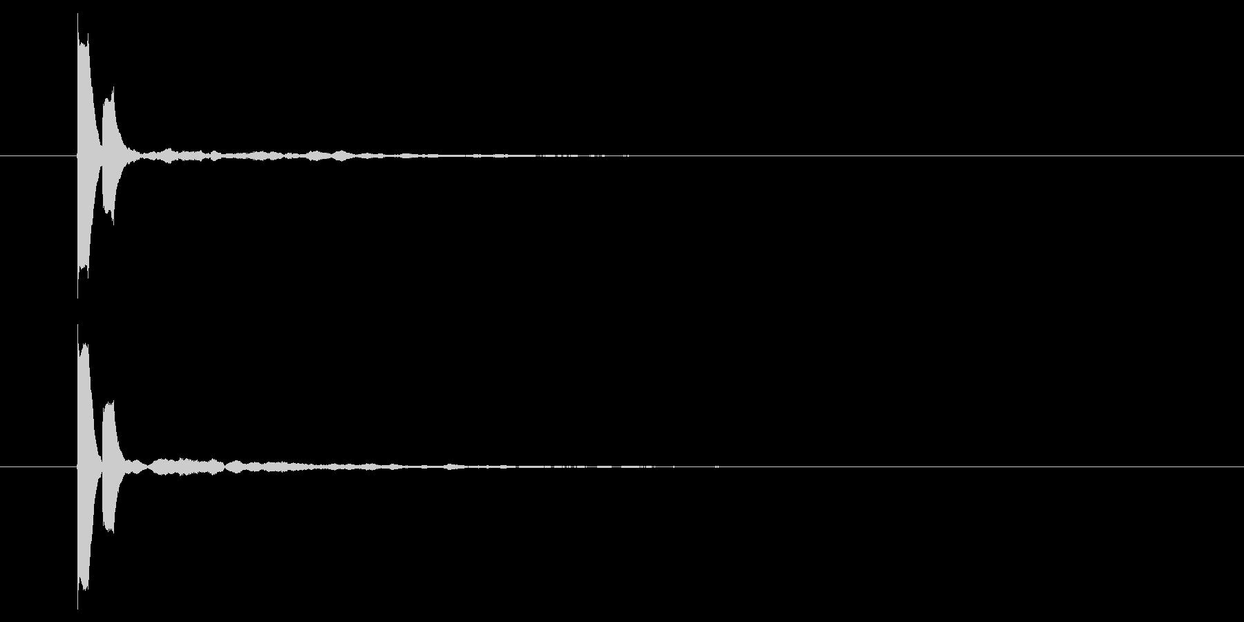 短いセレクト音の未再生の波形