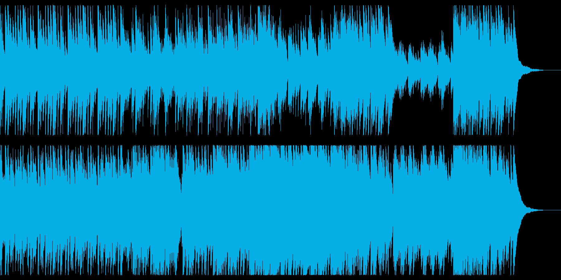 細く鳴り響くオルゴールの再生済みの波形