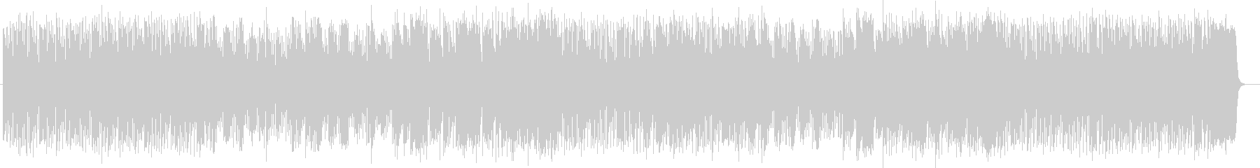 楽しく明るいシンセサイザーサウンドの未再生の波形