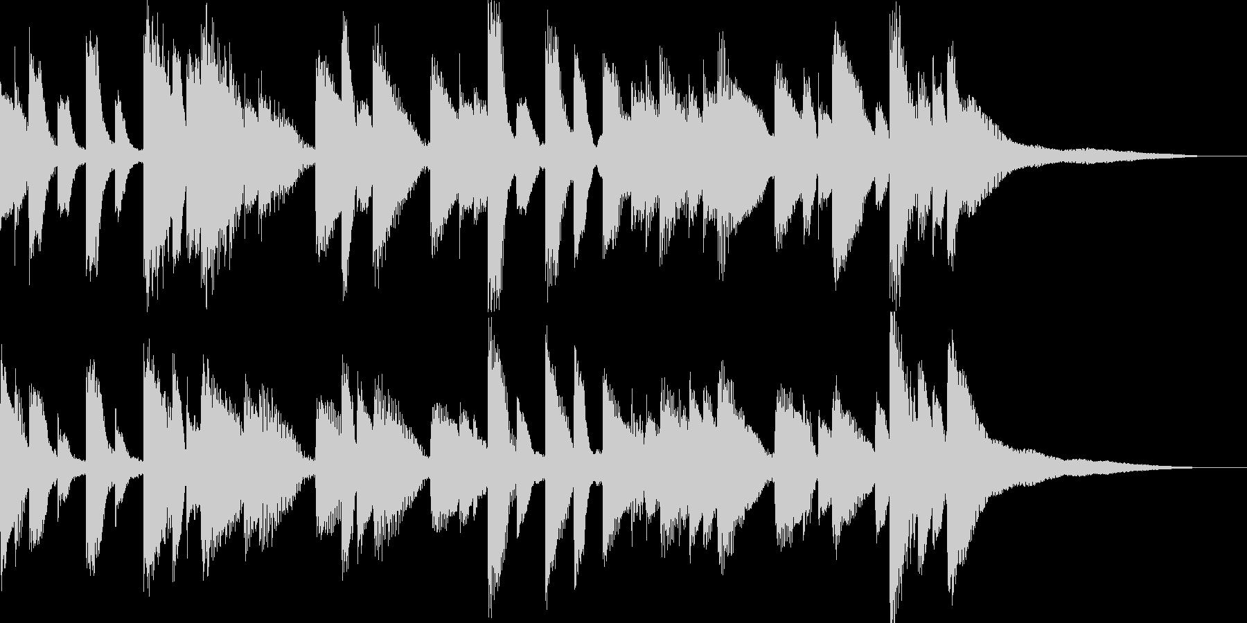 ジャズテイストのバラードの未再生の波形