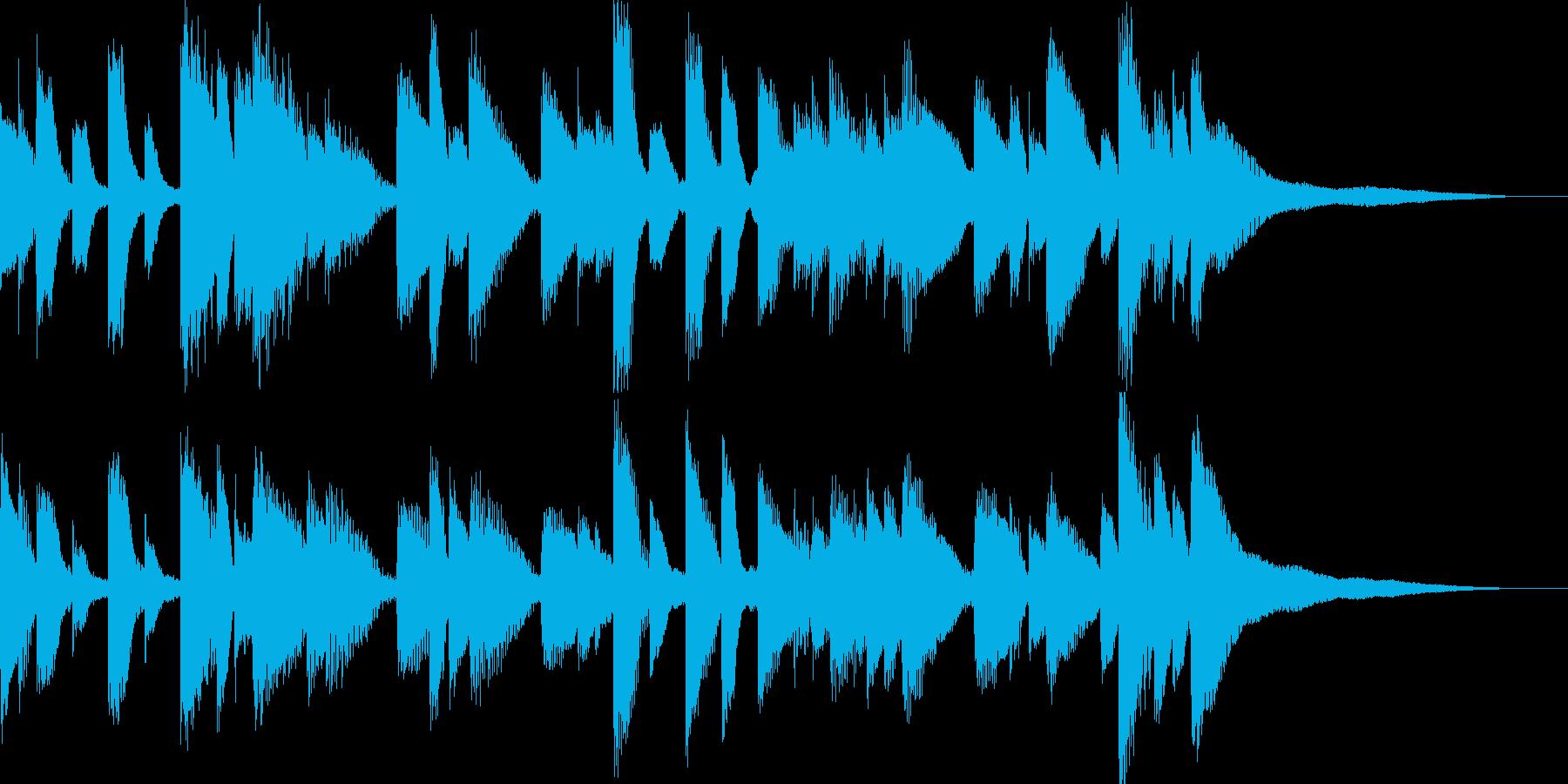 ジャズテイストのバラードの再生済みの波形