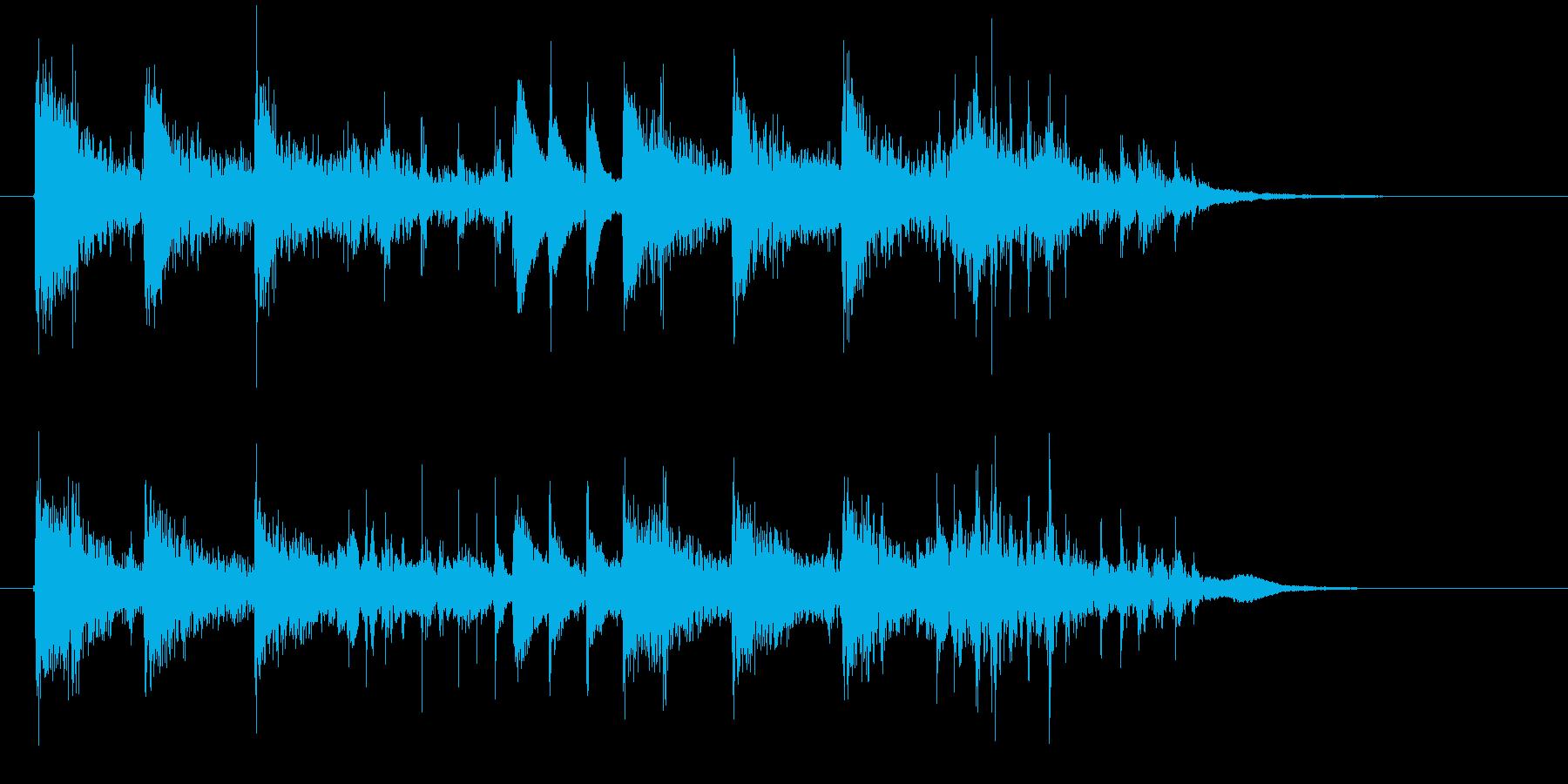 【ジングル】ピアノを中心とした幻想的な曲の再生済みの波形