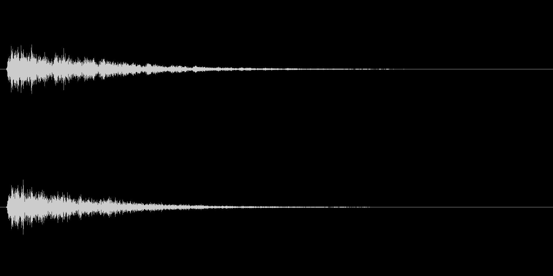 がーん(不穏な雰囲気の音)の未再生の波形