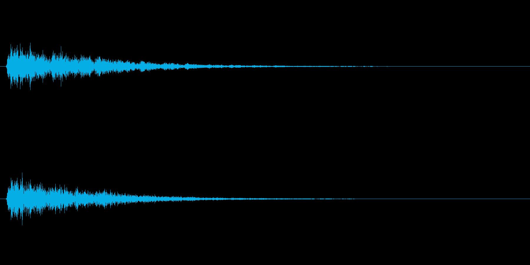 がーん(不穏な雰囲気の音)の再生済みの波形