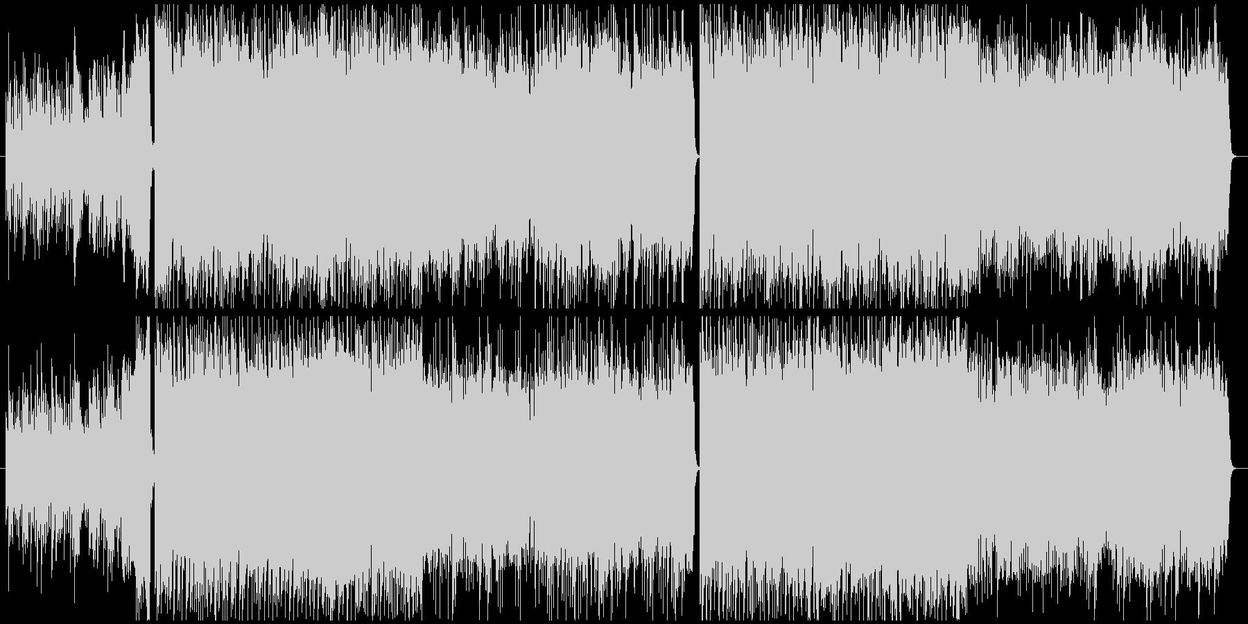 力強いメロの4つ打ち系ピアノ&チェロの未再生の波形