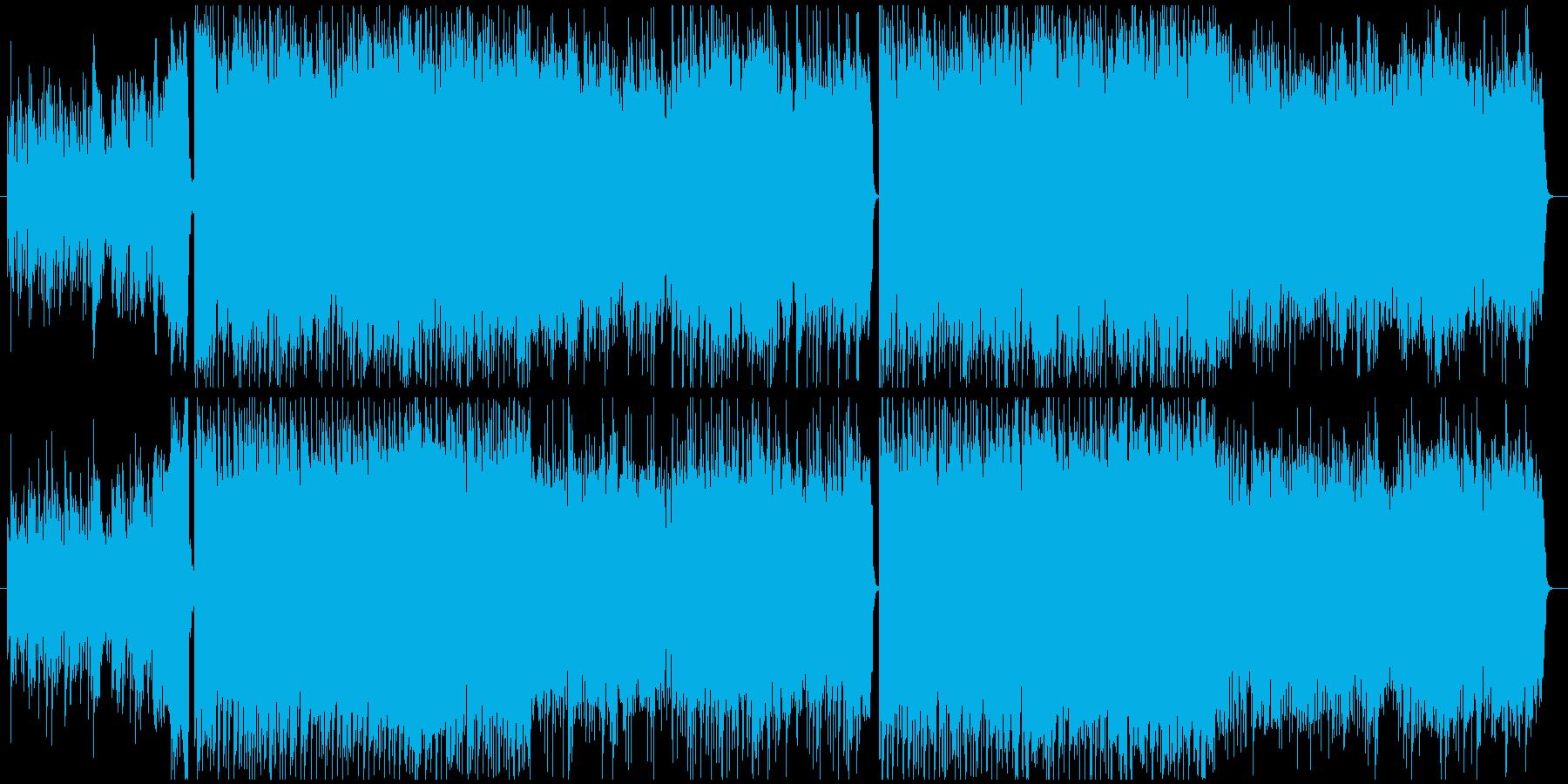 力強いメロの4つ打ち系ピアノ&チェロの再生済みの波形